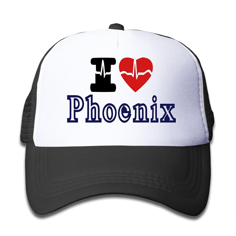 Gsyful Youth Children Kids Music I Love Phoenix Baseball Cap Hat Snapback Black