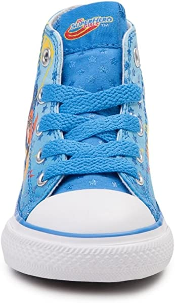 97ac35c13eceab Converse Youth Chuck Taylor All Star Hi Superhero Girls Sneaker Italy Blue  White Red. Back. Double-tap to zoom