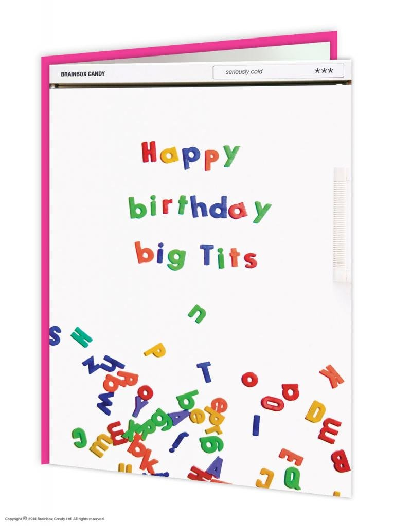 Amazon Brainbox Candy Funny Rude Humorous Happy Birthday Big Tits Greetings Card Kitchen Dining