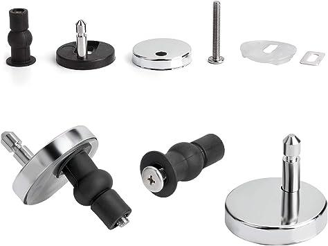 Chrome Toilet Seat Hinge Fittings /& Fixings Pack