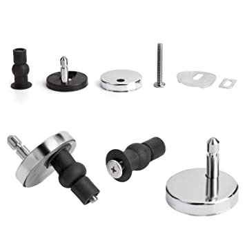 2 Pcs Top Fix WC Toilet Seat Hinges Fittings Quick Release Cover Hinge Screw