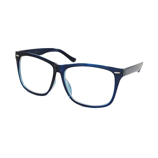 4fd0f58589da Amazon.com  NERD Geek 50s Style Oversize Trendy Frame Unisex Clear ...