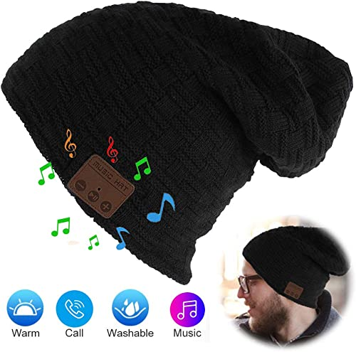 Unisex Bluetooth Beanie Wireless 5.0 Bluetooth Hat with Stereo Headphone Headset Speaker Mic Hands-Free Valentine s Day Holiday for Winter Outdoor Sport Skiing Snowboard Jogging Hiking