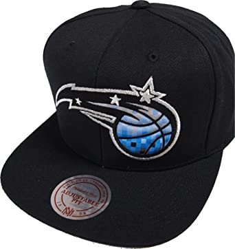 watch 32a12 c2cf6 Image Unavailable. Image not available for. Color  Mitchell   Ness NBA  Orlando Magic 348VZ Easy Three Digital XL Snapback Cap ...