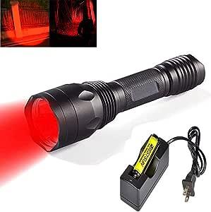 Bestsun Red Hunting Light Led Hunting Flashlight Torch With Red Lights For Deer Hog Rabbit