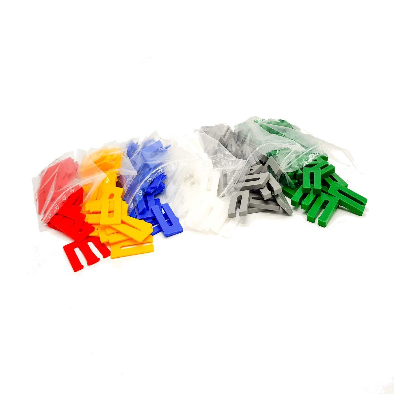 1 x Set je 50 St. 1, 2, 3, 4, 6, 8 mm Verglasungskl/ötze Distanzst/ück Ausgleichspl/ättchen Montagekeile Unterlegplatte