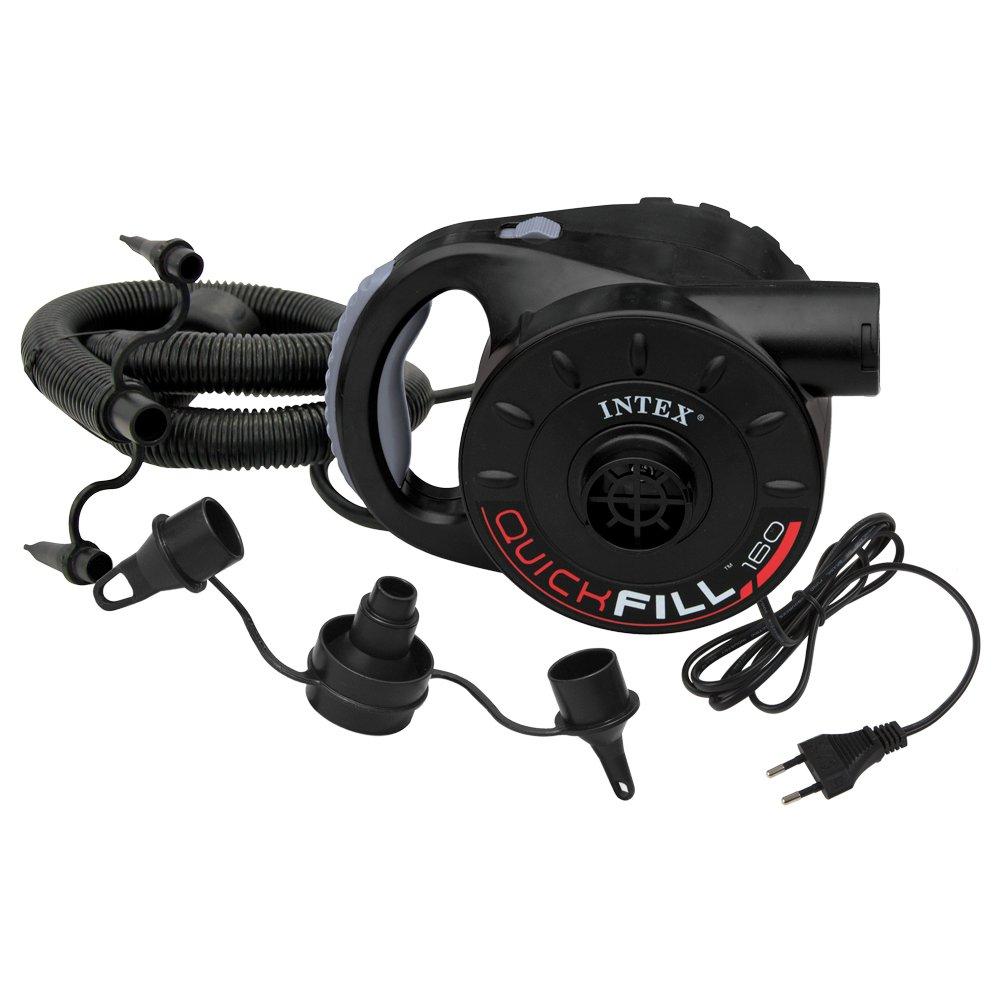 Intex - Bomba eléctrica enchufe 220-240v + adaptador coche (66622): Intex - 66622 - Jeu D Eau Et De Plage - Gonfleur Électrique Rechargeable 12 Et 220 ...