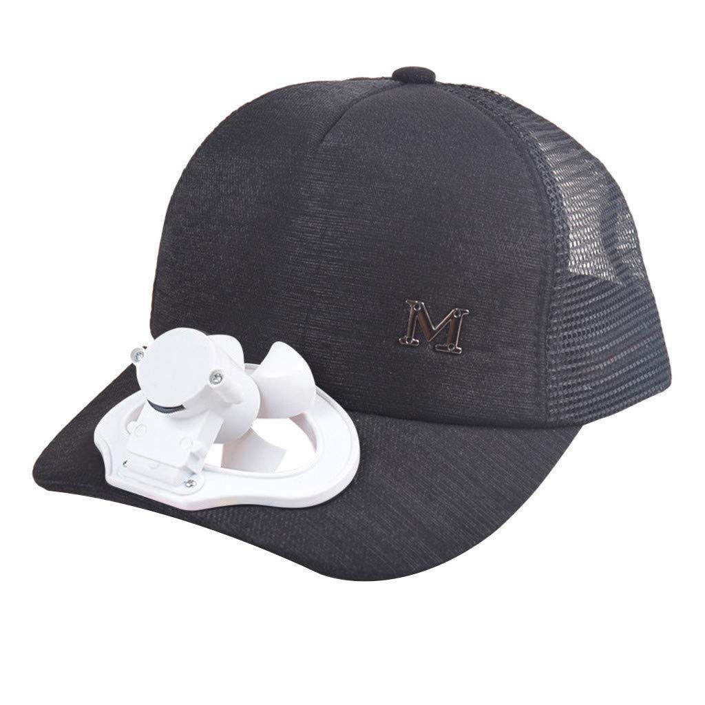 Solar Energy Belt Fan Baseball Golf Hat Storage Belt Switch Fan Cap Sun hat Peaked Cap/Solar Panel on The Cap FrontHat