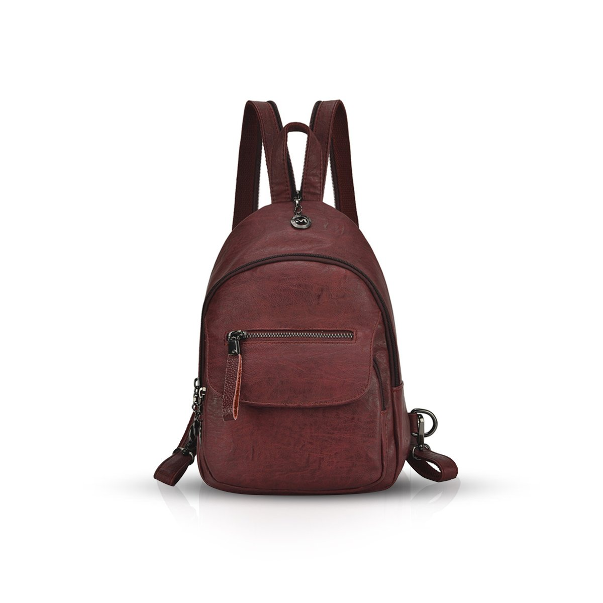 NICOLE& DORIS Women Backpack Convertible Ladies Rucksack Crossbody Shoulder Bag PU Leather ND-ZE001