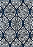 Nolita Rugs Chelmsford Polypropylene Navy Indoor/Outdoor Rug 3'11'' X 5'7''