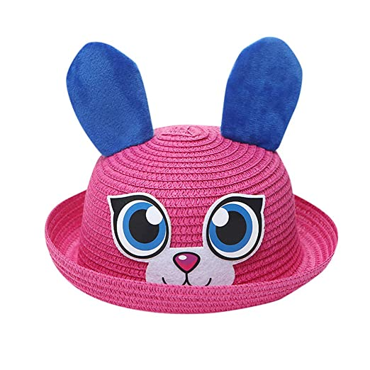 cad4dd82229 Image Unavailable. Image not available for. Color  UCQueen Straw Hat for Kids  Summer Baby Hat Cap ...