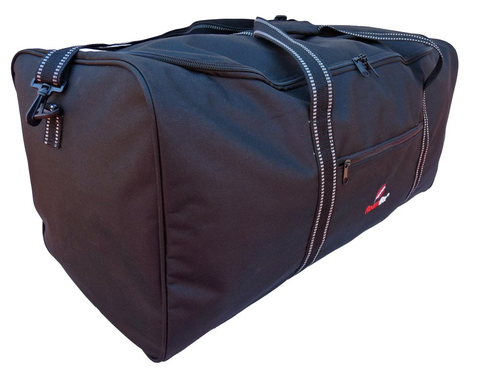 Extra Large XL Big Holdall - Suitcase Size Travel Bag - 110 Litre Very Large Black Luggage Holdalls - Huge Space - Cargo Bags For Storage, Travel or Laundry - 34 Inch 86cm X 36cm X 36cm