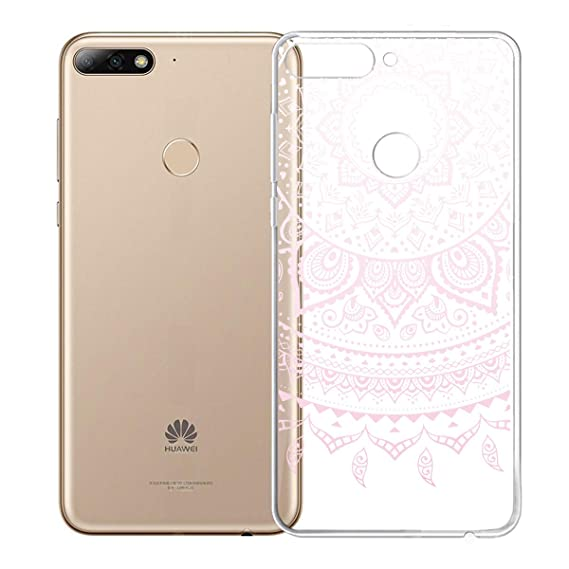 Amazon.com: Case for Huawei Y7 2018 (5.99 in), WenJie Pink ...
