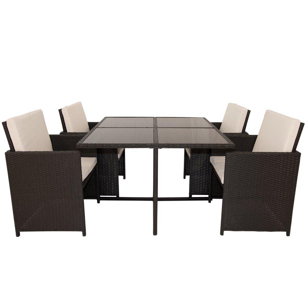 polyrattan essgruppe grenada xl schwarz g nstig kaufen. Black Bedroom Furniture Sets. Home Design Ideas