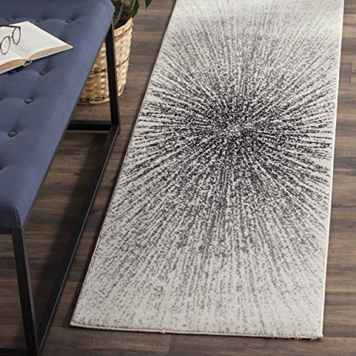 Safavieh Evoke Collection EVK228K Contemporary Burst Black and Ivory Runner (2'2