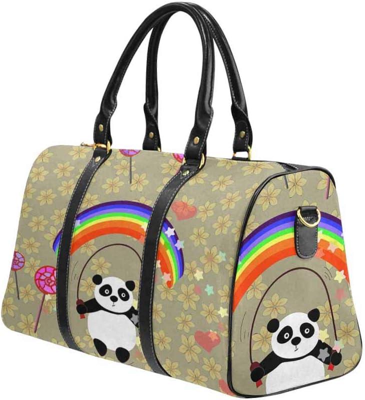 InterestPrint Weekender Bag Overnight Carry-on Tote Duffel Bag Background of Leopard Skin