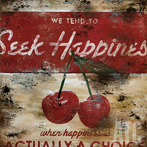 ArtToCanvas 24W x 24H inches : Seek Happiness by Rodney White - Canvas