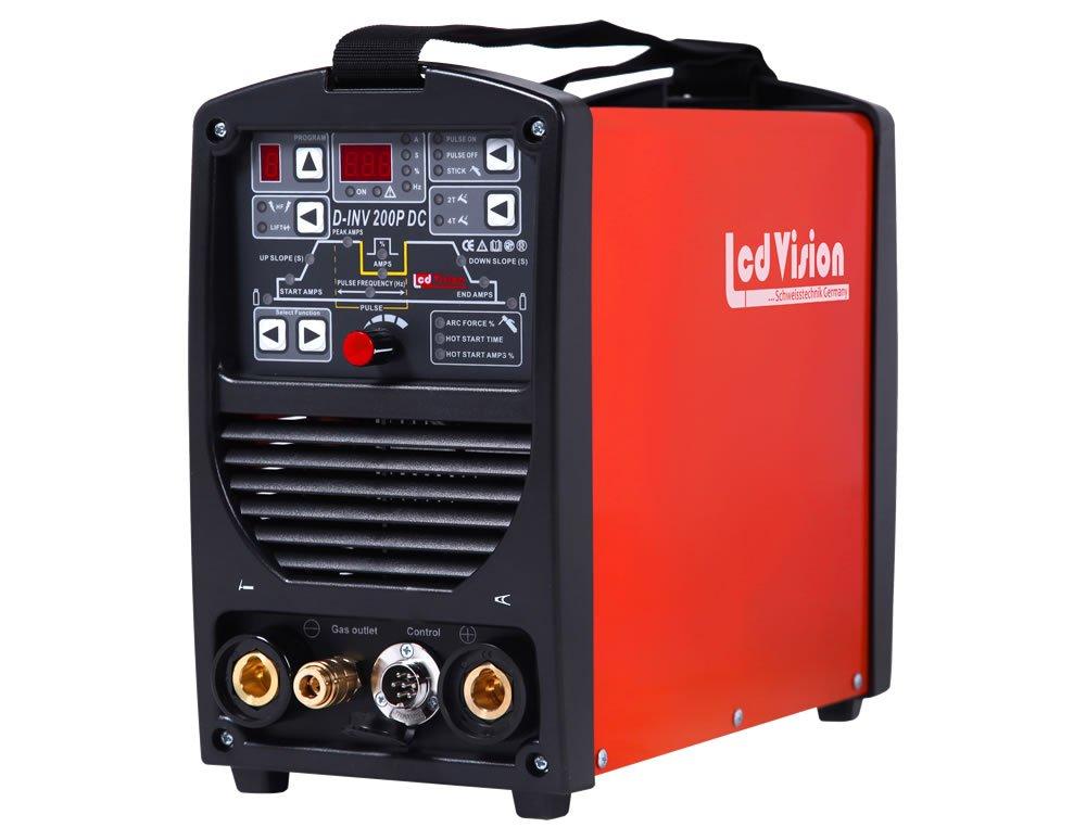 Stick MMA Inverter Schweissgerät 200A 32-bit MCU IGBT D-INV 200P AC DC Puls