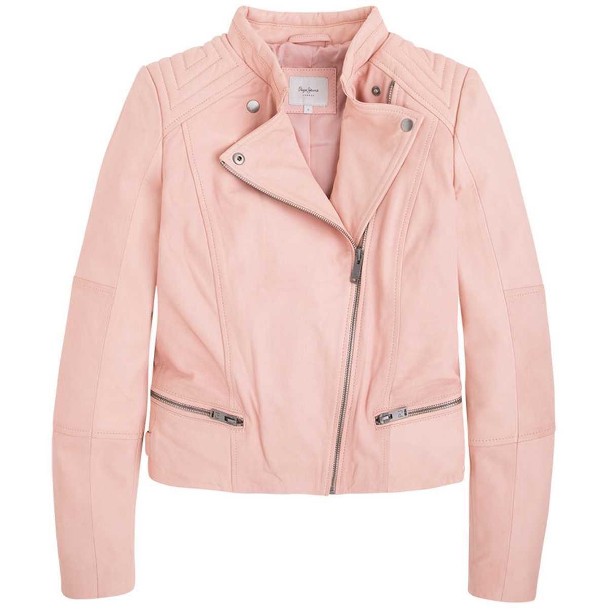 Pepe Jeans London, Lederjacke ABBI Powder Pink, Größe XS