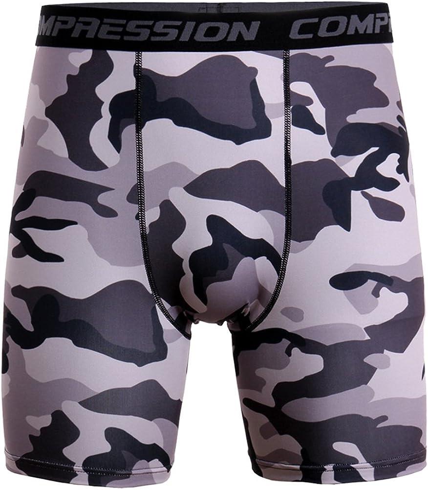 MISSMAO Hombre Compresi/ón Pantalones Cortos Termicos Base Layer Short Coquilla Boxer