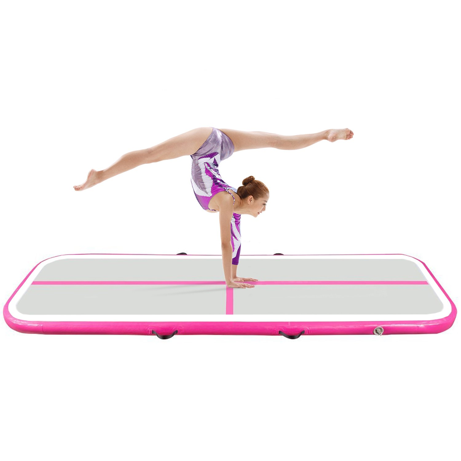 Hans&Alice Inflatable Gymnastic Mat Airtrack Tumbling Mat for Indoor/Outdoor Use (2mx1mx0.1m)