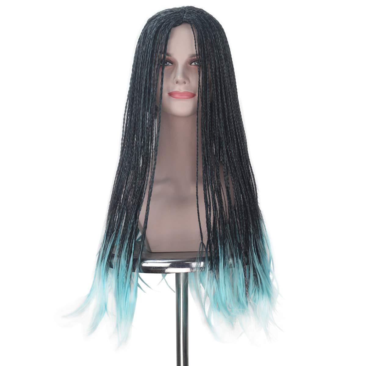 Amazon.com  iCos Women Long Blue Mixed Black Braids Pirate