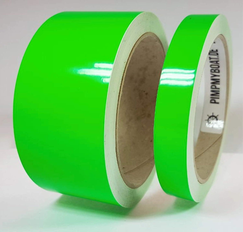 Siviwonder Zierstreifen neon gr/ün in 40 mm Breite und 10 m L/änge f/ür Auto Boot Jetski Modellbau Klebeband Aufkleber Dekorstreifen neongr/ün Fluor
