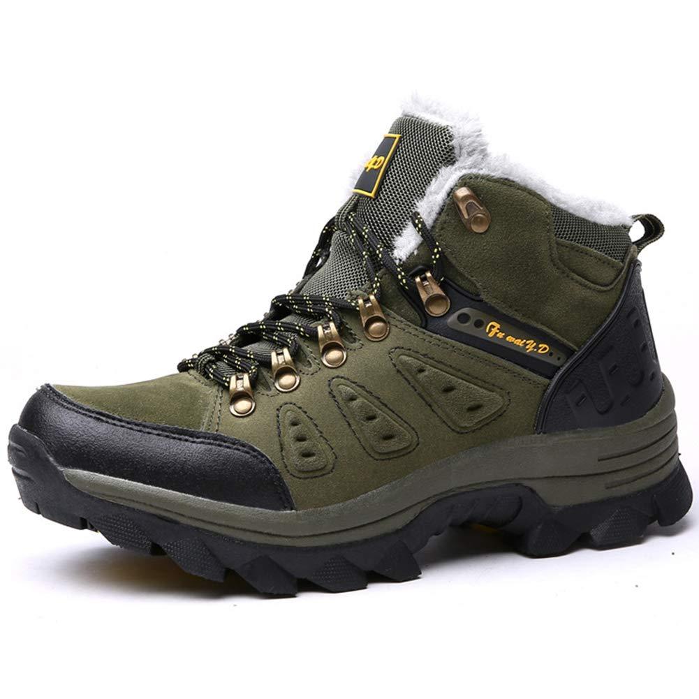 SELCNG Chaussures de randonnée Unisexes Chaussures de Marche imperméables Chaussures de Marche pour Hommes avec Chaussures de randonnée pour Sports de Plein air-green-38