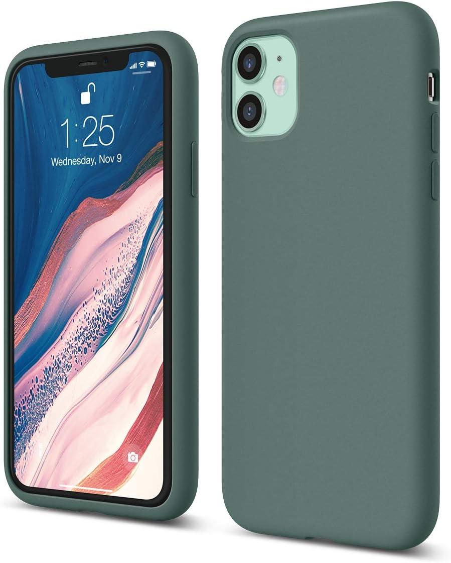 elago iPhone 11 Case |Midnight Green| - Premium Liquid Silicone, Raised Lip (Screen & Camera Protection), 3 Layer Structure, Full Body Protection, Flexible Bottom