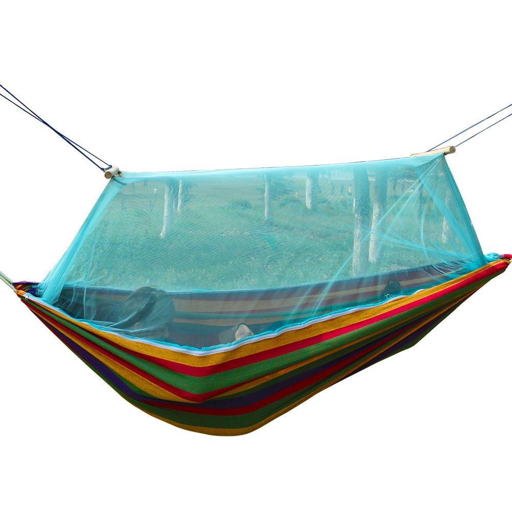 RFVBNM Outdoor-Hängematte Doppel-Moskitonetz Camping Hängematte Schaukel Außen Leinwand Hängematte150  200cm