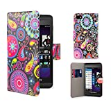 32nd Design book wallet PU leather case cover for Blackberry Z10 - Jellyfish