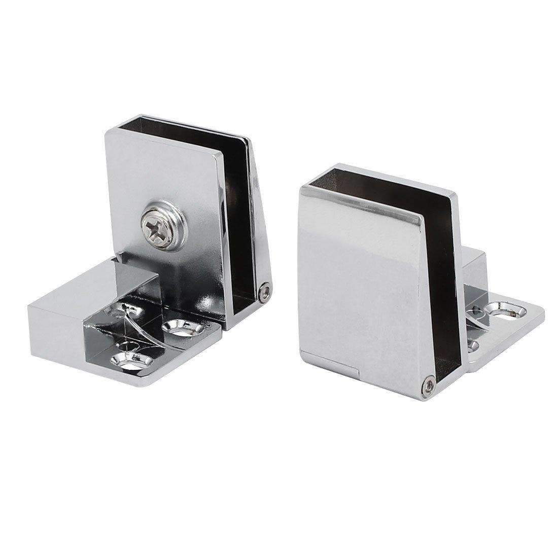 sourcingmap® Bisagras Abrazaderas de metal satinado 3mm-5mm de espesor de pared para vidrio 2pcs a16120100ux0394