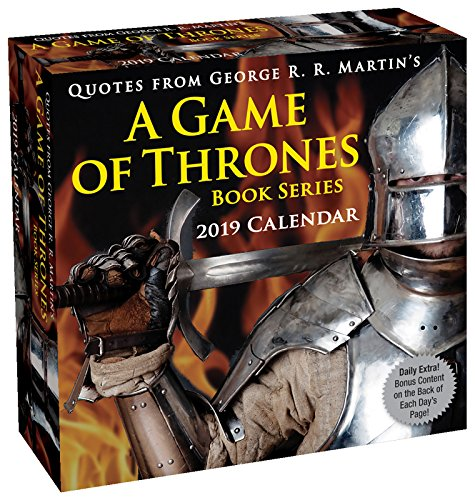 Book cover from Quotes from George R. R. Martins A Game of Thrones Book Series 2019 Day-to-Day by George R. R. Martin