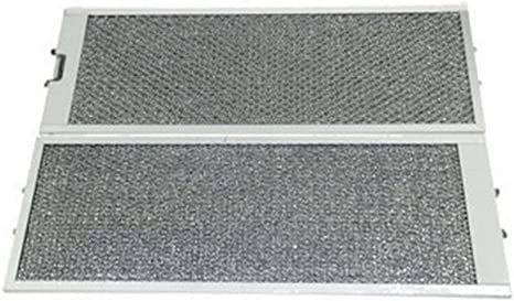 Lote de 2 filtros metálicos antigrasa para campana extractora Siemens Bosch Neff Constructa: Amazon.es: Grandes electrodomésticos