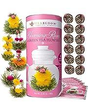 Teabloom Rose Flowering Tea – 12 Blooming Tea Flowers – 36 Steeps, Makes 250 Cups – Romantic Rose Tea Gift Set for Tea Lovers – Premium Ingredients