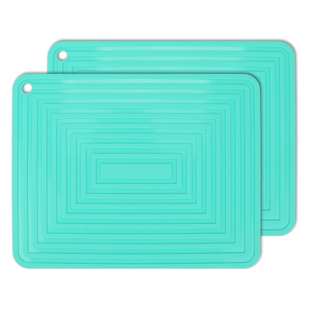 2 Pack,Silicone Trivet Mats/Hot Pads,Pot Holder,9