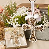 3 Stunning Vintage Design Cross Ornaments Religious Favors