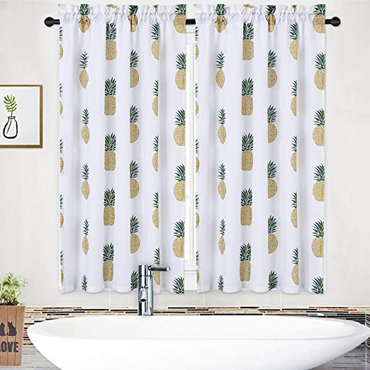 Window Treatments 27 X 24 Green Yellow Pineapple Two Panels Nanan Tiers Curtains Pineapple Printed Kitchen Curtain Drapes Linen Blend Textured Rod Pocket Tailored Short Curtains Living Room Curtain Sets Home Hyundai Lighting Com Mk