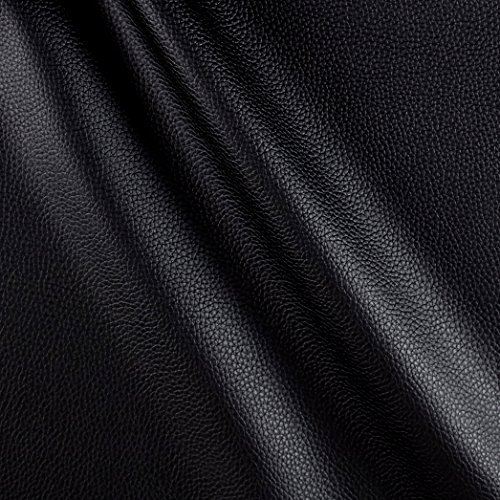 Fabric Cabo Faux Leather Black Yard