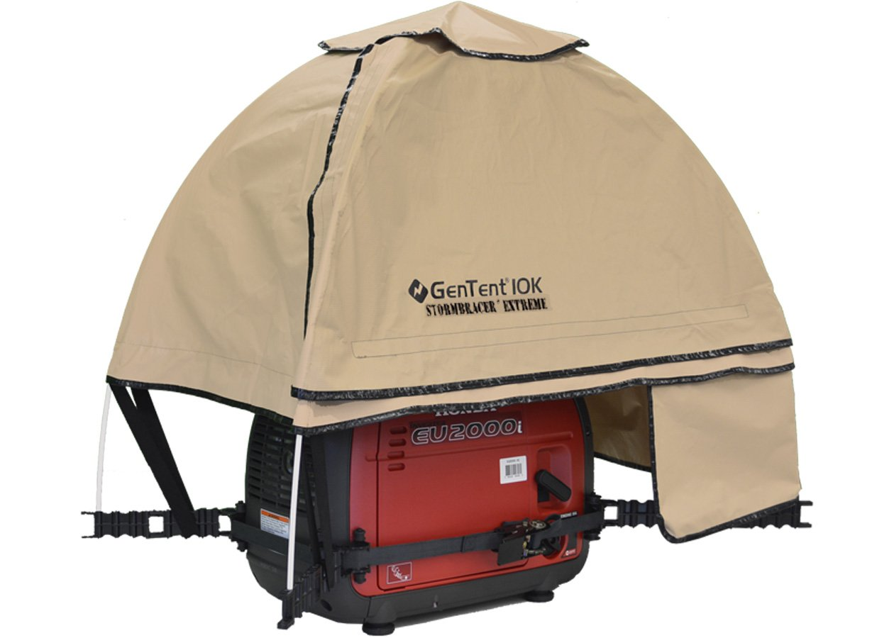 GenTent 10K Generator Tent Running Cover - XKI Kit (Extreme, TanLight) - Compatible with 1000w-3000w Inverter Generators by GenTent Safety Canopies