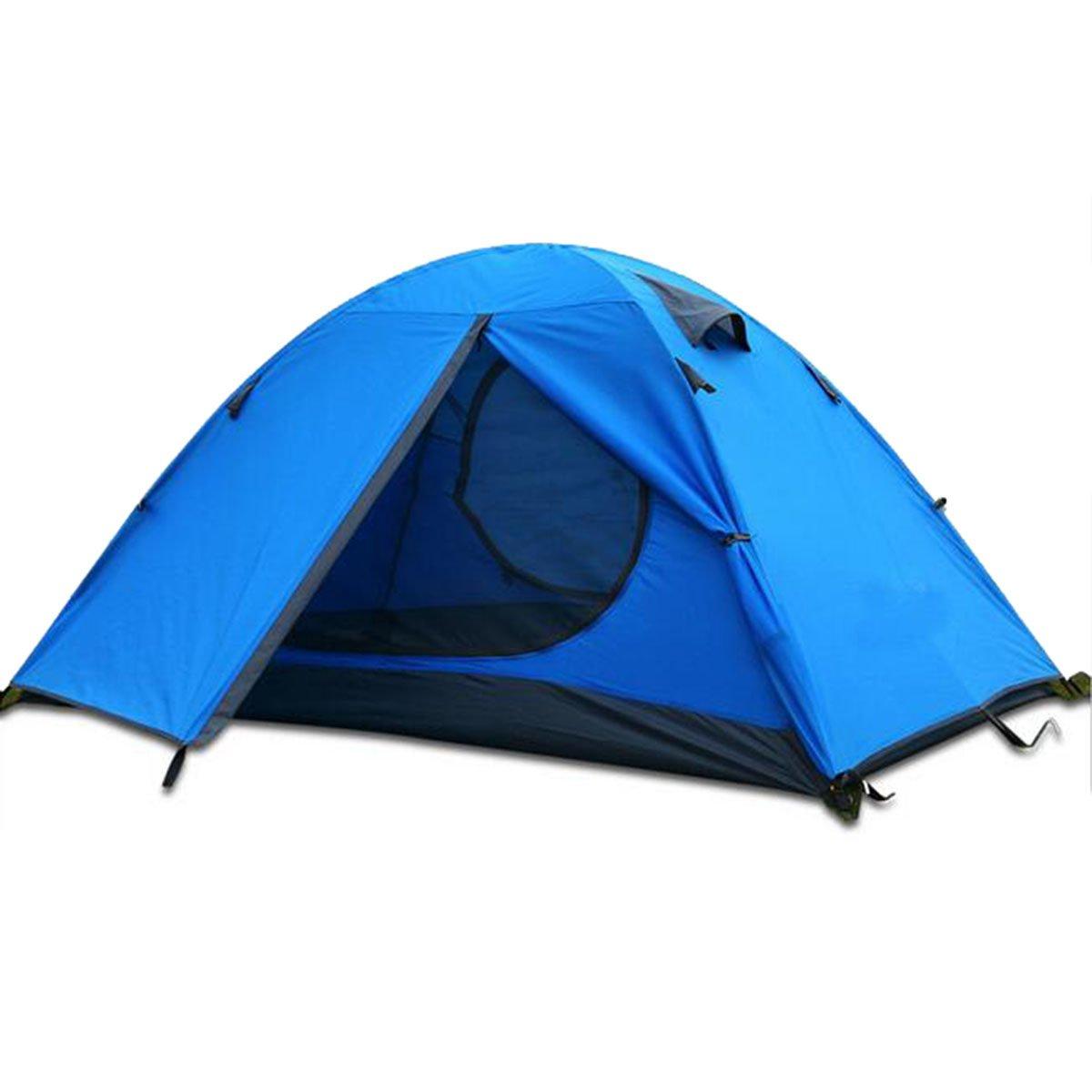 TZQ Ultra-light Im Freien Doppelpaar Doppel Camping Zelte,Blau