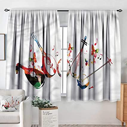 Amazon.com: Anzhutwelve Music,Curtain rods Flourishing ...