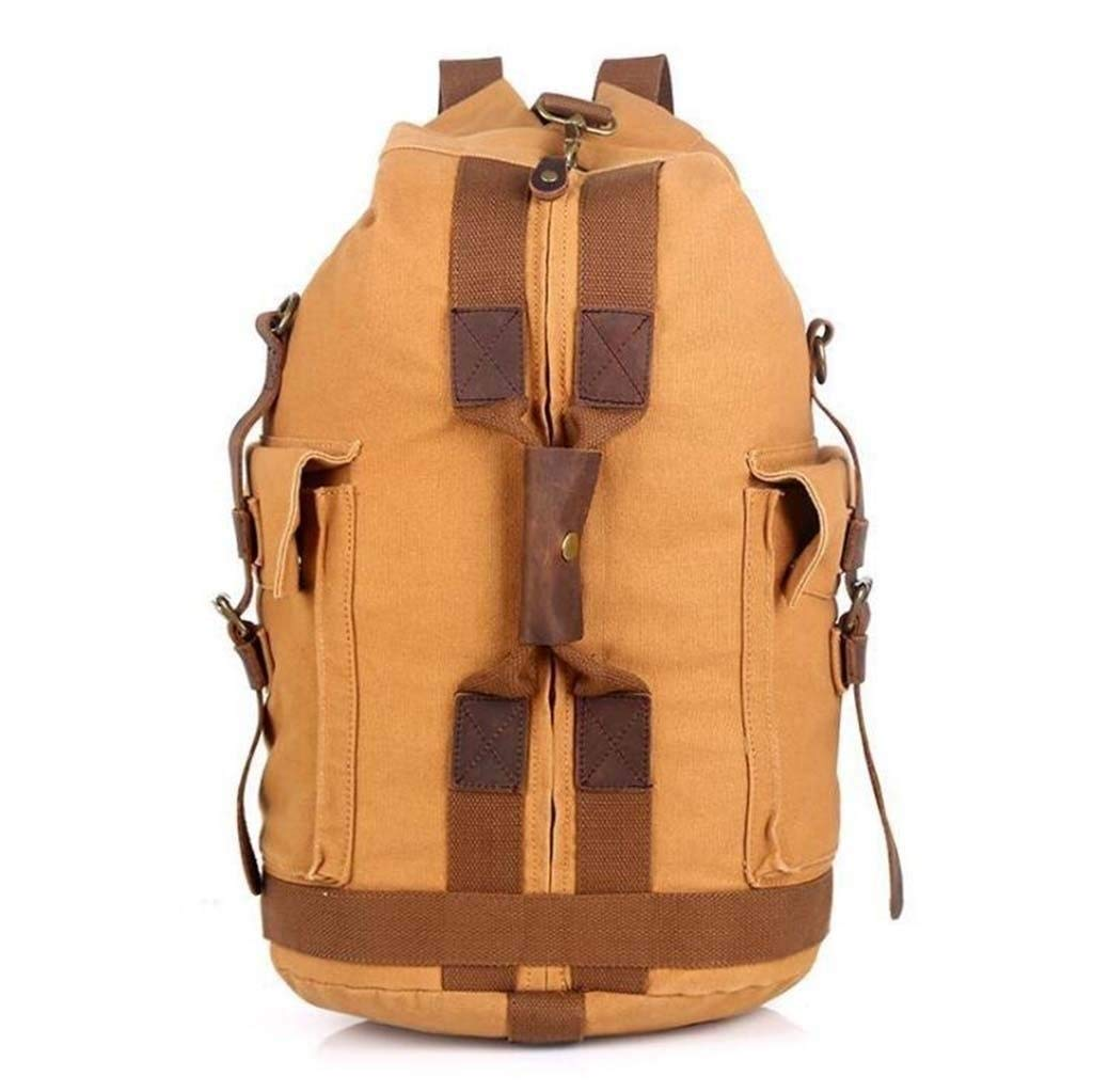 MYXMY Comfortable Wild Fashion Multi-Function Travel Backpack Large Capacity one-Shoulder Men's Canvas Backpack Bucket Bag Sports and Leisure (Color : B)