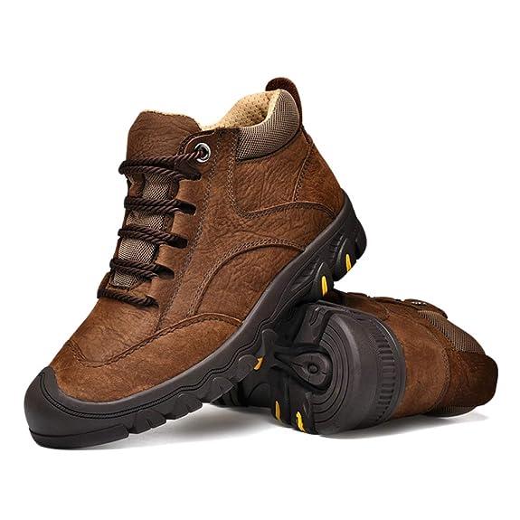 Botines para Hombre Zapatos para Herramientas Zapatos Cómodos Antideslizantes para Caminar Botas De Trabajo Y Zapatos De Moto De Terciopelo Grueso: ...