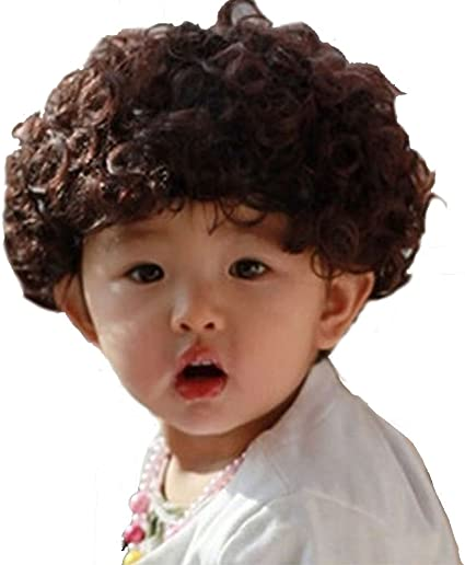 Amazon Com Long Short Curly Wavy Straight Costumes Wig With Bangs Cosplay Hair Adjustable Synthetic Heat Resistant For Boys Girls 4 10y Big Curly Boys 4 8y Toys Games