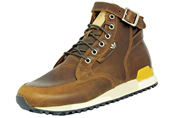 newest 207a1 0047b adidas ZX Riding Boots 84 LAB Brown Leather Sneakers Shoes Retro Grade  Resistance New, Brown