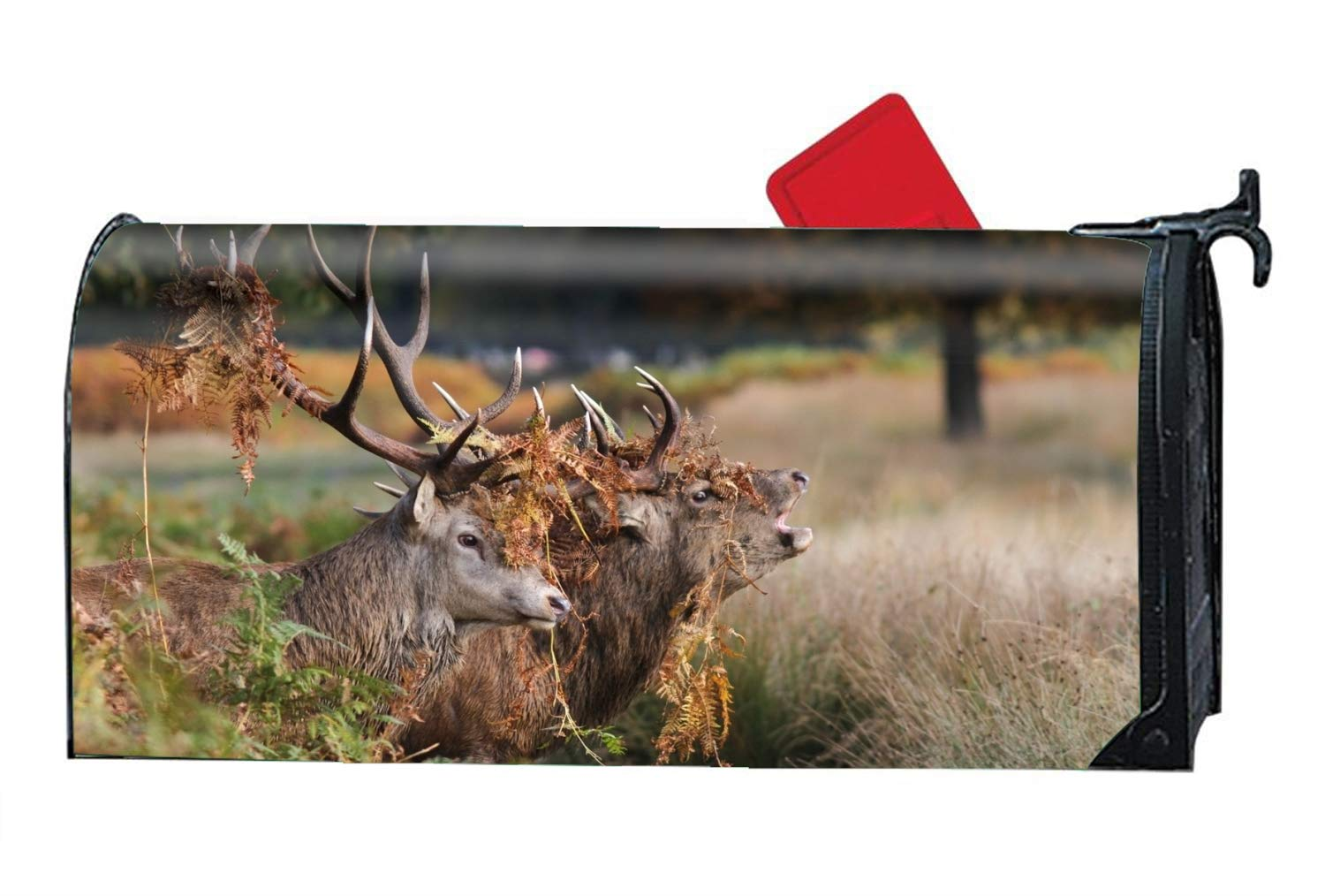 FANMIL Animal Red Deer Spring Mailbox Cover Inspirational Candles Standard