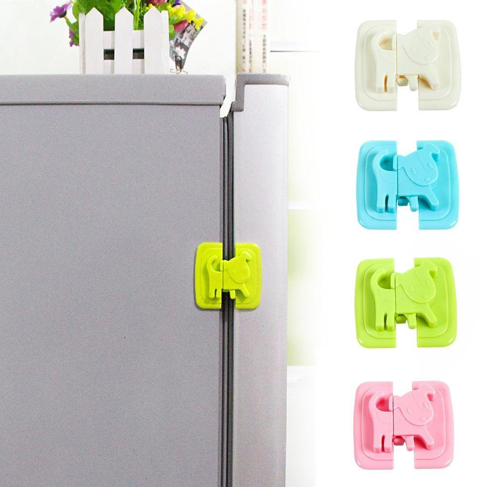 VT BIG HOME Set 4 PCS Baby Safety Cartoon Shape - Kids Baby Care Safety - Security Cabinet Locks & Straps Products - For Fridge Door Cabinet Locks