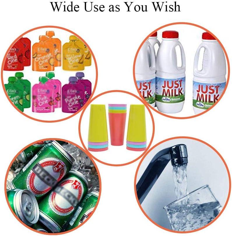 Dproptel - Juego de vasos de plástico reutilizables para acampada, fiestas al aire libre, camping, playa y picnic, plástico, Large 14.5cmHeight