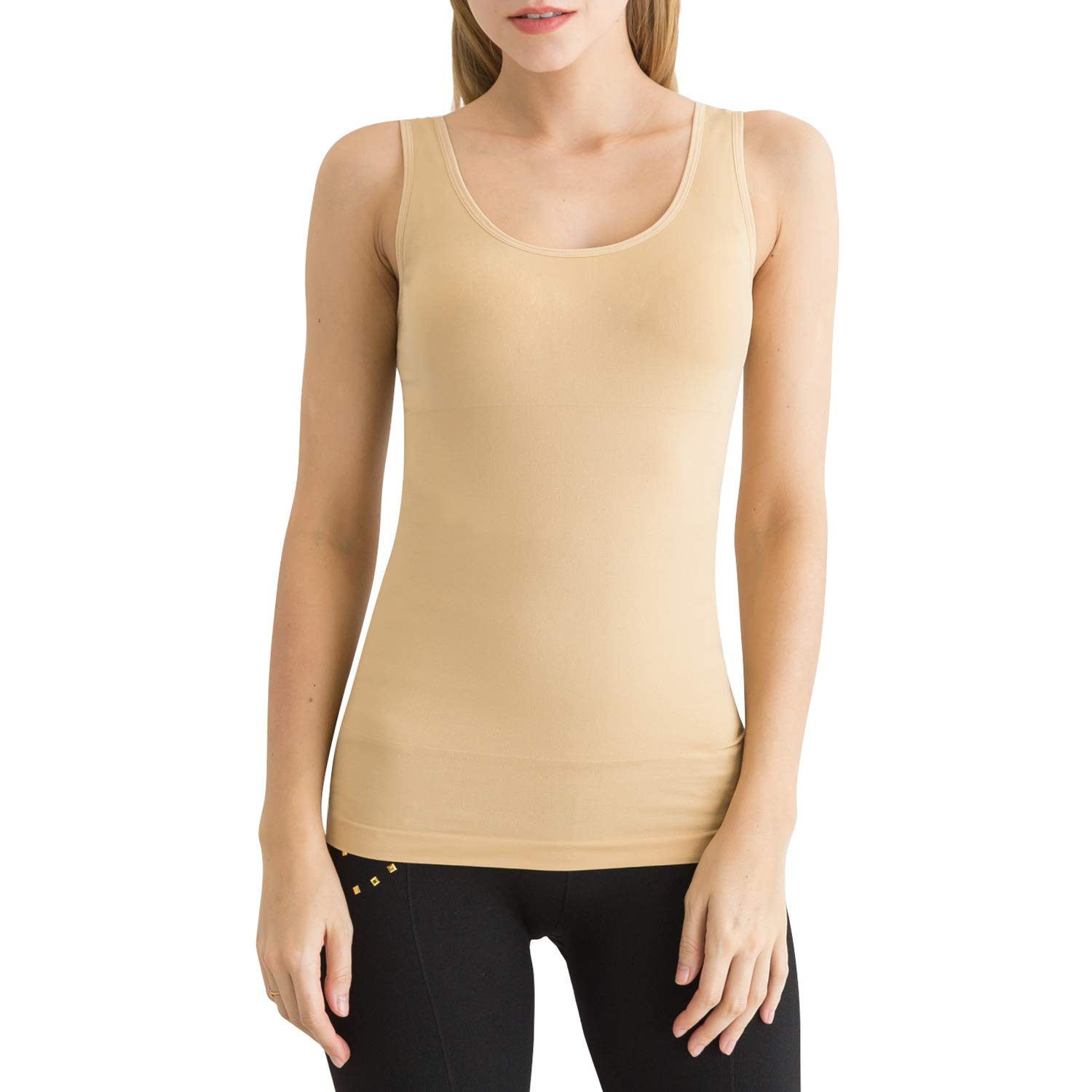5ab3894ce69 SlendShaper Women s Shapewear Tank Top Firm Tummy Control Shaper Seamless Slimming  Shaping Tanks at Amazon Women s Clothing store